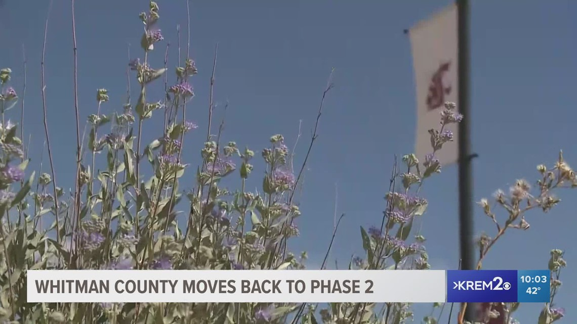 Whitman County one of three moving back to Phase 2 of Washington's reopening plan
