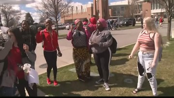 'Save our teachers': Rogers HS students protest SPS layoffs with walkout