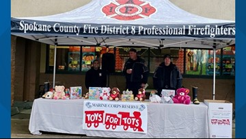 Toys for Tots Spokane's inventory is 'extremely low'