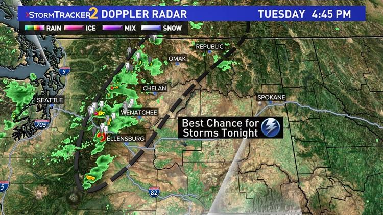 Thunderstorm chances arrive this week across Spokane and Washington