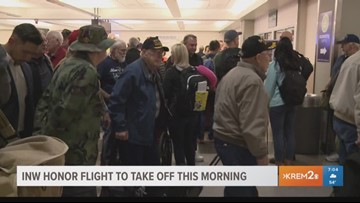 First Honor Flight of 2018 takes off Monday morning (5-7-18)