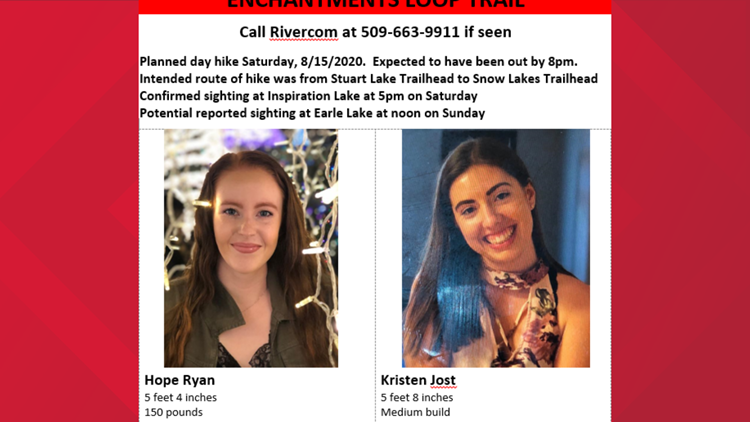 Two missing hikers on Enchantments Loop Trail have been found