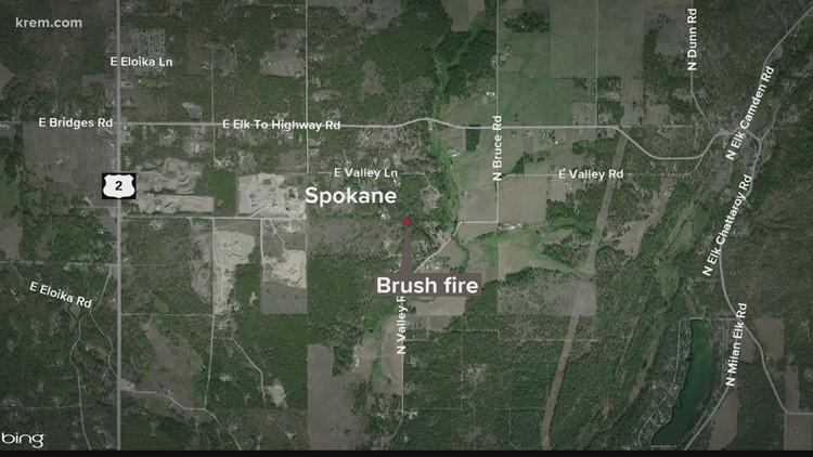 Growing 70-acre brush fire burning near Elk, level 2 evacuations issued