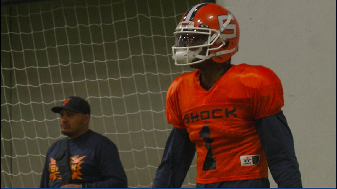 Shock QB Charles McCullum excited to break IFL all-time passing yards record