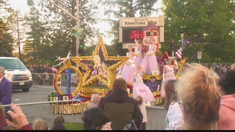 Spokane's Lilac Parade marches on despite rain, flooding