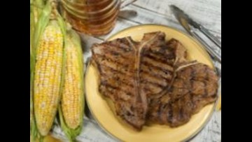 Tom's BBQ Forecast: Santa Fe grilled beef steaks and corn