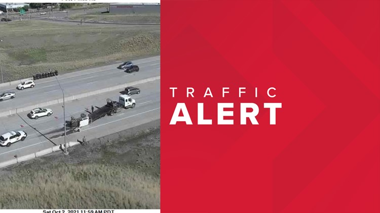 Vehicle flip causes lane closure on EB I-90 near Pines Rd