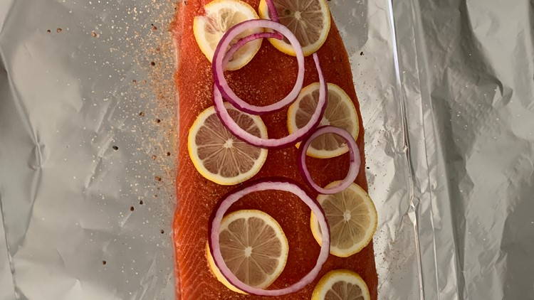 Tom's BBQ Forecast: Grilled Salmon in Foil with Cucumber Salad