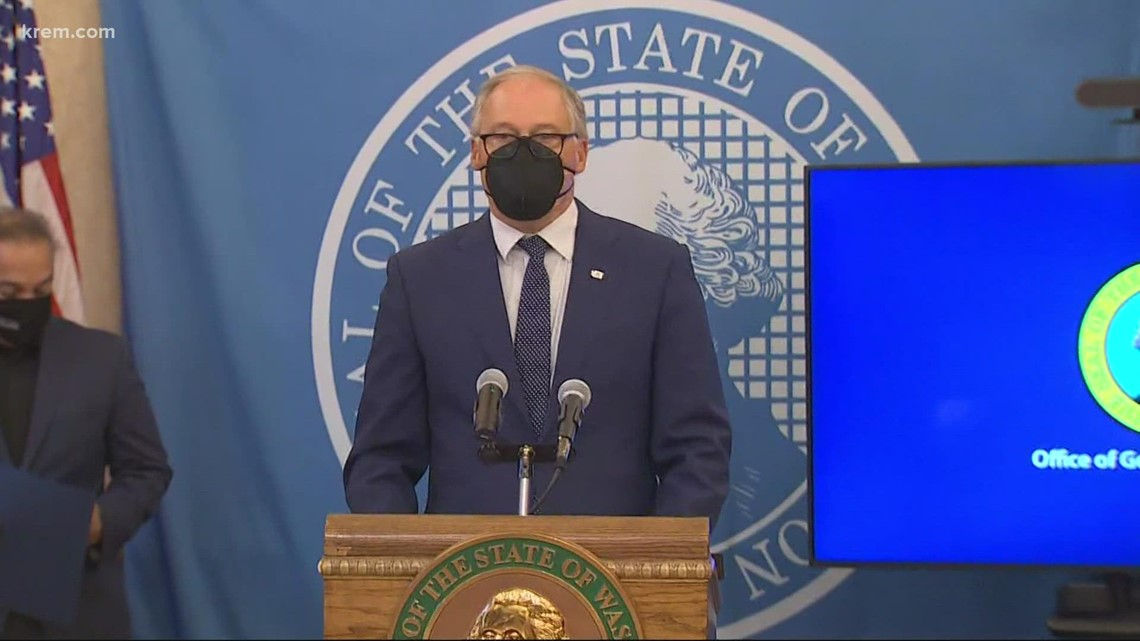 Inslee to require proof of vaccination or negative COVID-19 test to attend large events in Washington