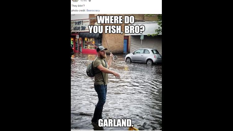Garland flood meme
