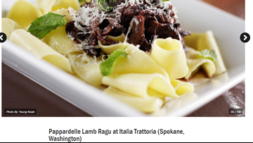 Food Network says Italia Trattoria dish is among best pastas in the country