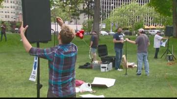 Parents, children flock to Spokane's Riverfront Park to give kids a voice