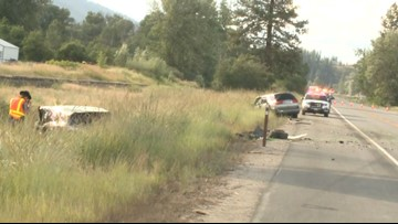 Head-on crash on Hwy 395 near Colville kills one,  toddler uninjured