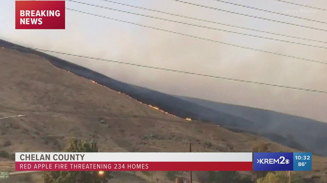 Red Apple Fire burning 1,000 acres