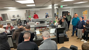 Customers flock to Donut Parade as it reopens in Spokane