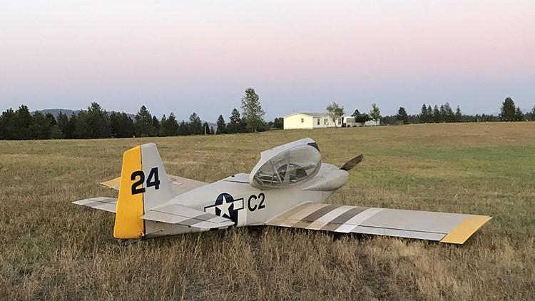 Pilot okay after making hard landing in Nine Mile Falls