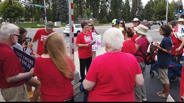 'Moms Demand Action' rallies in Coeur d'Alene for background checks on gun purchases