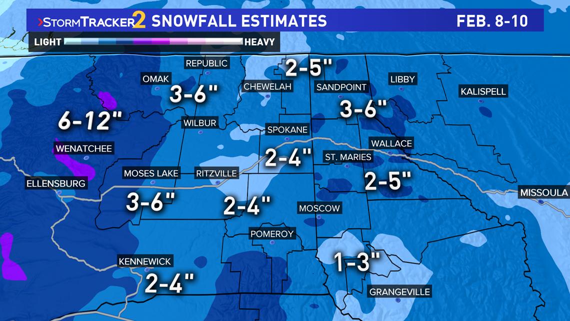 next snow storm hits spokane  all of washington this