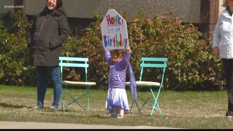Spokane 3-year-old gets special birthday 'parade' during stay-home order