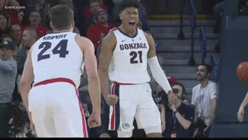 Gonzaga climbs to No. 2 on AP college basketball poll