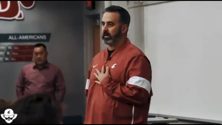 'I'm honored to coach you guys': Nick Rolovich addresses WSU football team for first time