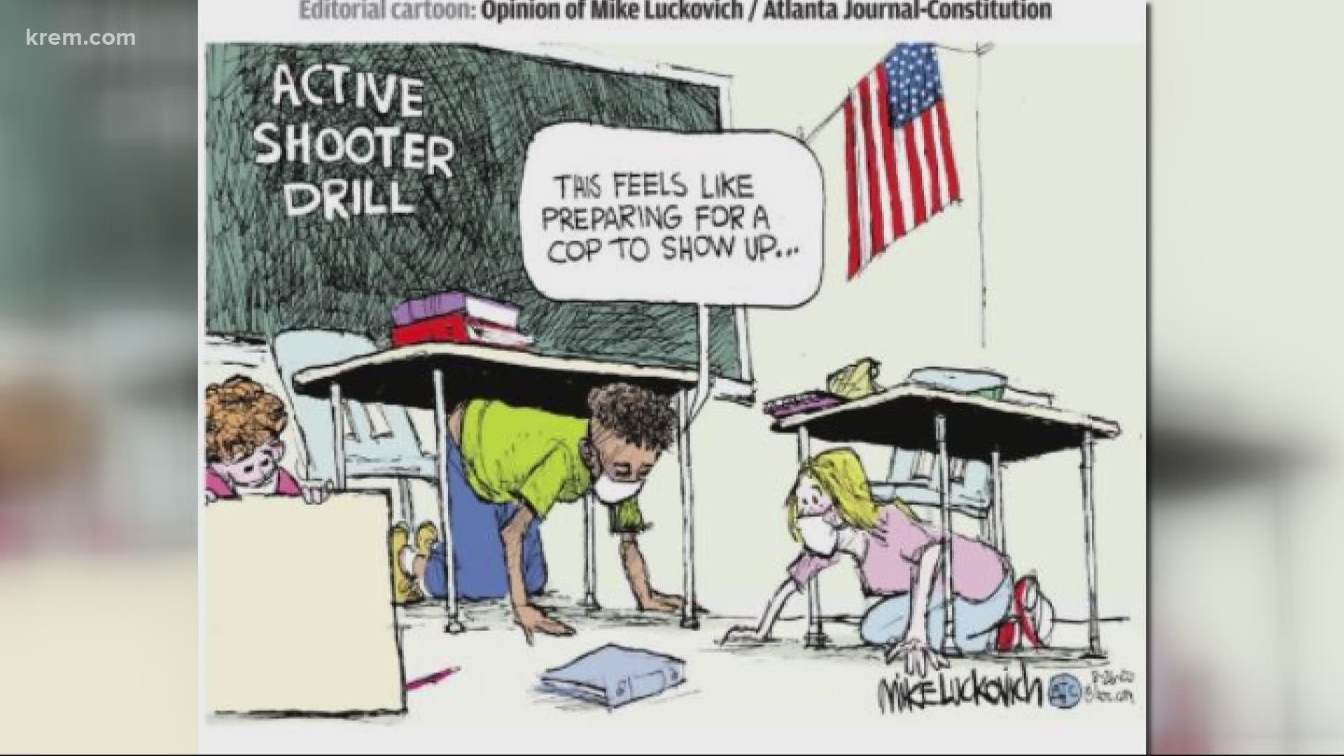 Lewiston Tribune Apologizes For Cartoon About Police Violence Krem Com