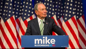 Why is presidential candidate Michael Bloomberg running ads in Spokane?