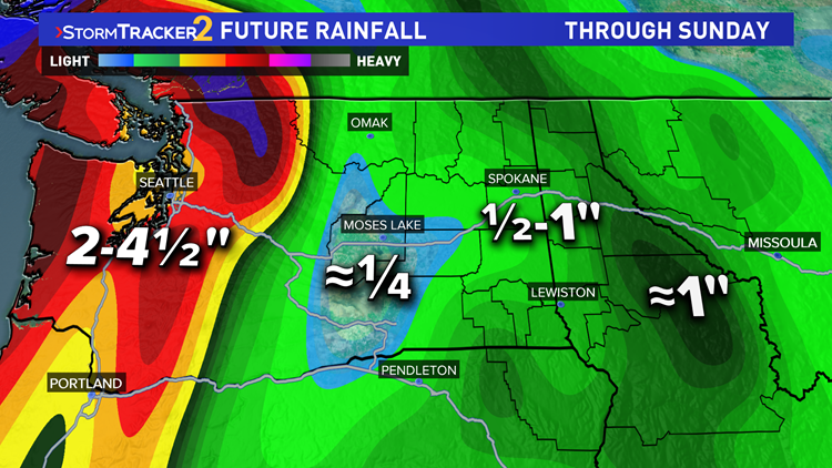Day after day of rain for Washington state this week