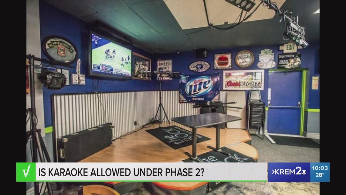 VERIFY: Yes, karaoke can resume during Phase 2 of Washington's reopening plan