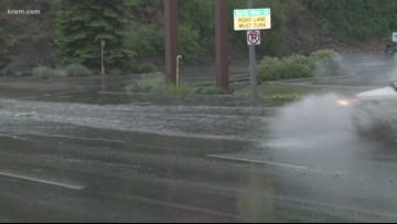 West Central Spokane sees more rain in 24 hours than airport in April
