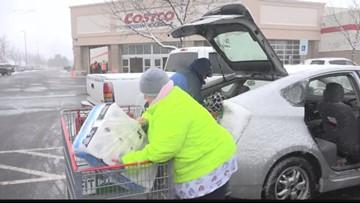 Spokane shoppers stock up on supplies before heavy weekend snowfall