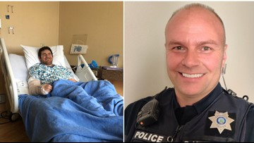 'He saved my son's life': Rathdrum cop praised as hero after disabled man's medical emergency