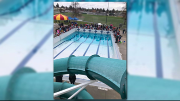 Spokane Parks and Rec. dumps Trout in Shadle Pool for Fishing Frenzy