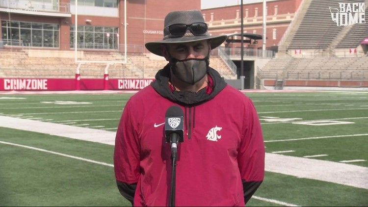 WSU football coach responds to new mask mandate for fans