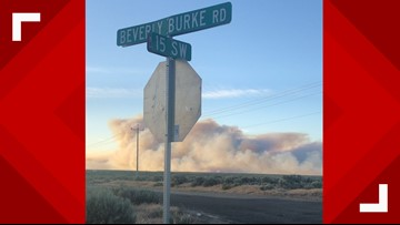 Grant County wildfire 85 percent contained, cause under