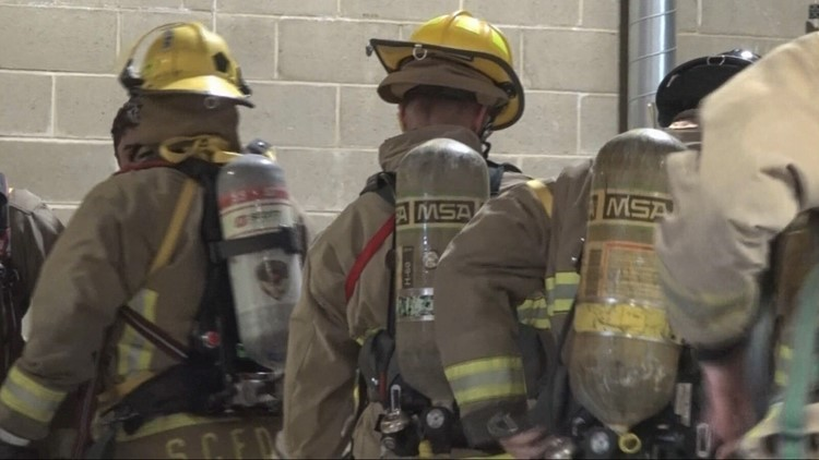 Firefighter recruits train to survive wildfire season at Fairchild Air Force Base