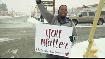 Meet the man behind the 'You Matter' signs in Spokane