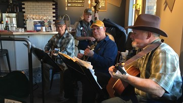 Retired Spokane men's band wows customers at The Grain Shed every Wednesday