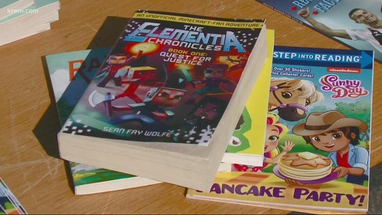 KREM Cares Big Book Giveaway held on Wednesday