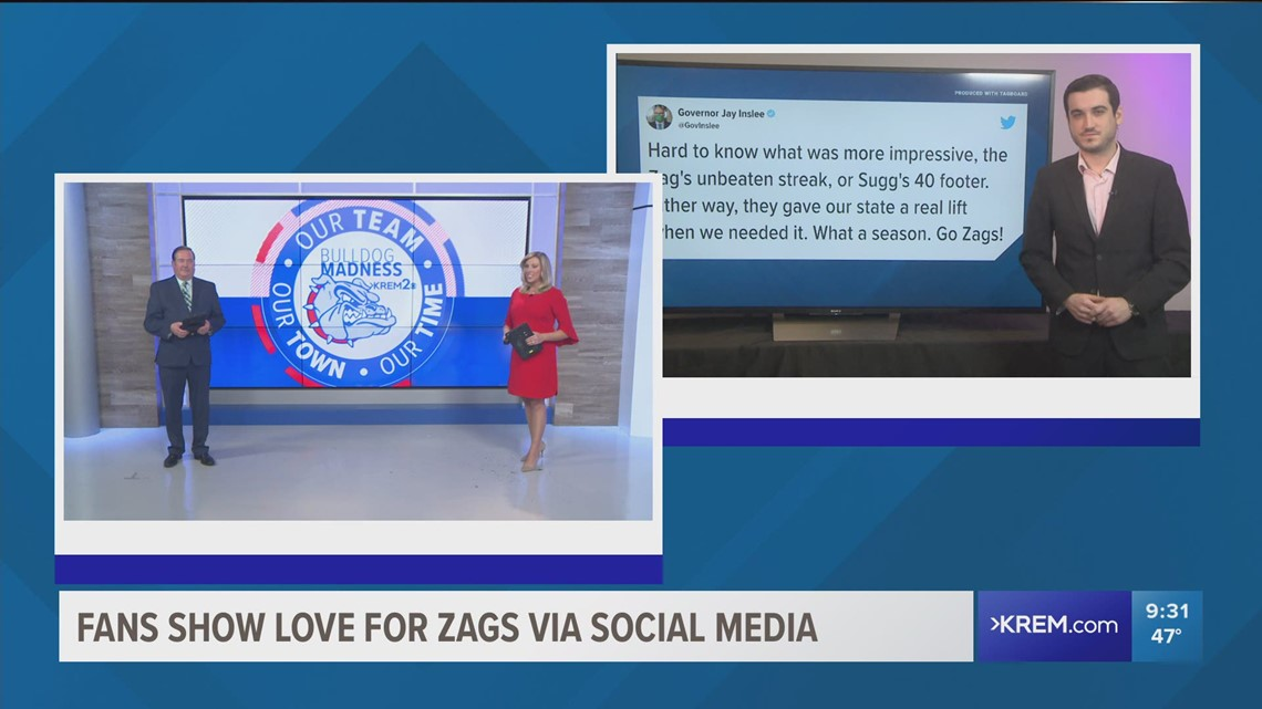 Support pours out for Gonzaga on social media following national championship loss