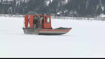 BNSF, Bonner County first responders hold winter weather training on Lake Pend Oreille