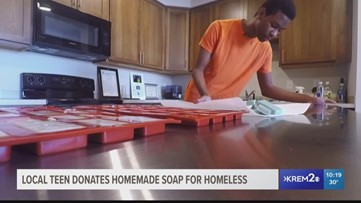 Soap for a cause: Spokane teen gives back to the homeless