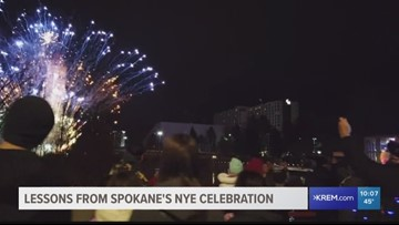 Why didn't Spokane's fireworks actually last 12 minutes?