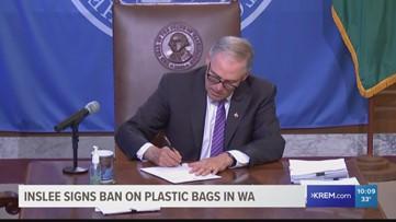 Gov. Inslee signs Washington plastic bag ban into law