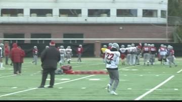 WSU Football's last practice before Alamo Bowl