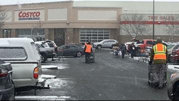Spokane shoppers stock up before heavy snow blankets area