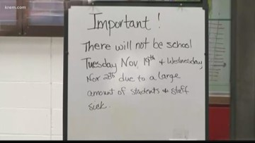 Silver Hills Elementary in North Idaho closed for two days due to illnesses