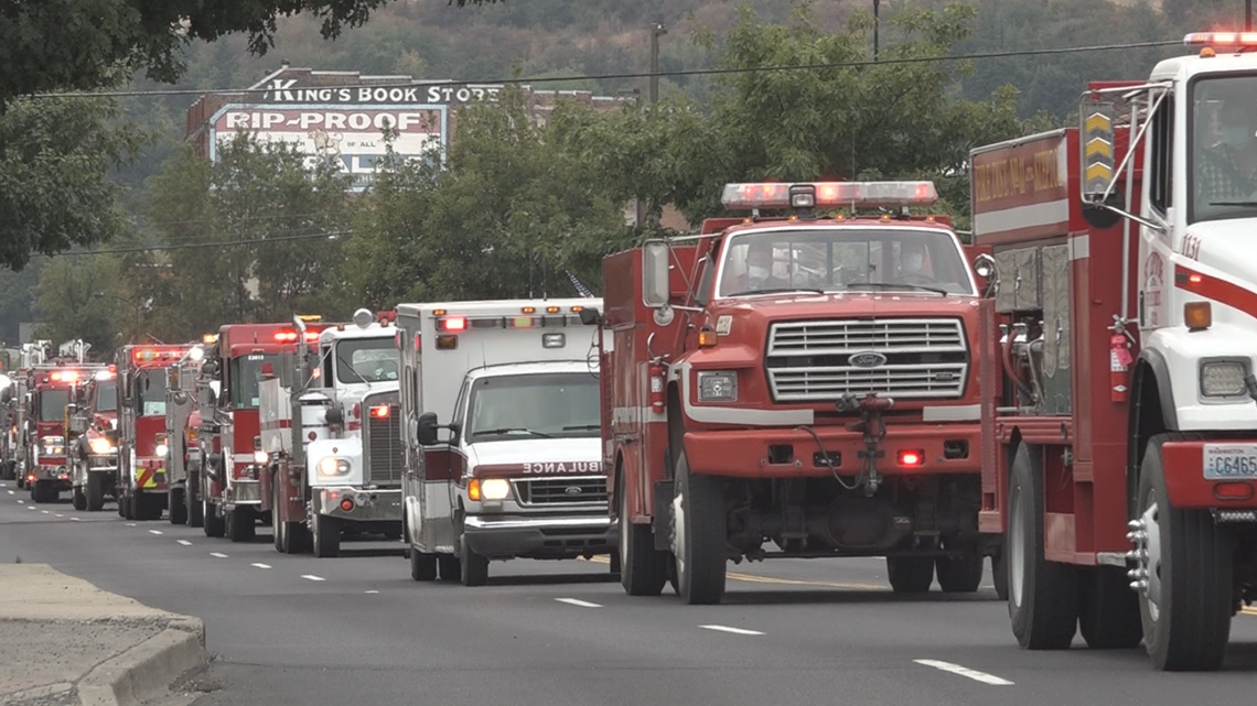Procession and memorial held for longtime Colfax Fire Chief