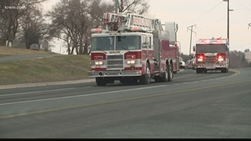 Ashes of volunteer firefighter killed in crash brought home to Troy, Idaho