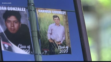 Small Washington town honors seniors with banners on Main street